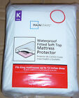 WATERPROOF FITTED SOFT TOP MATTRESS PROTECTOR * KING QUEEN DOUBLE SINGLE *