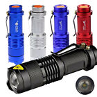 Zoomable 1200LM Mini CREE Q5 LED Flashlight Torch 7W Adjustable Focus Lamp 14500