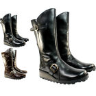 WOMENS FLY LONDON MES WARM FUR LINED LEATHER MID CALF FLAT BOOTS LADIES 3-8