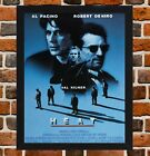 Framed Heat Movie Poster A4 / A3 Size In Black / White Frame