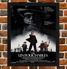 Framed The Untouchables Movie Poster A4 / A3 Size In Black / White Frame