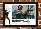 Framed Dirty Harry Movie Poster A4 / A3 Size In Black / White Frame (Ref-2)