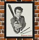 Framed Magnum Force Movie Poster A4 / A3 Size In Black / White Frame