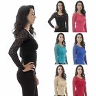 Sexy New Women Long Sleeve Lace Crochet Shirt Sexy Slim Casual Blouse Tops