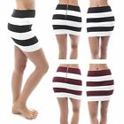 New Sexy Striped Women Bandage Bodycon Pencil Skirt Clubwear Tight Mini Skirt