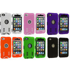 Hybrid Arrows Deluxe Color Hard Skin 3-piece Case Cover For Ipod Touch 4th Gen