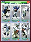 SEATTLE SEAHAWKS Pro Football SET: 1993 McDonald's GameDay (3 sheets / 18 cards)