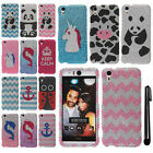 For HTC Desire EYE DIAMOND BLING CRYSTAL HARD Case Phone Cover + Pen