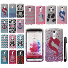 For LG G3 Stylus D690 DIAMOND BLING CRYSTAL HARD Case Phone Cover + Pen