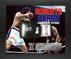 Roberto Duran Signed Framed Mounted Glove on Printed Poster Framed in Dome