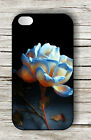 FLOWER BLUE AND WHITE ROSE CLOSE UP CASE FOR iPHONE 4 5 5C 6 -yfg6Z