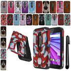 For Motorola Moto G 2015 3rd Gen XT1541 Anti Shock HYBRID HARD Case Cover + Pen