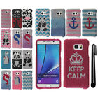 For Samsung Galaxy Note 5 N920 DIAMOND BLING CRYSTAL HARD Case Phone Cover + Pen