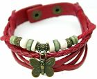 Vintage Style Genuine Leather Watch Bracelet - Butterfly - 5 Colors