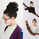 Fashion Style Long Twining Wavy Curly Hair Bun Synthetic Ponytail Hair Extension