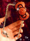 NEW DIY Handmade Black Red Bow crystal Finished Case cover for iPhone 5 5S OE46
