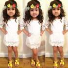 CUTE Children Clothing Girls Lace Dress Princess Dresses Kid Baby Clothes 2-11Y