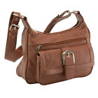 Внешний вид - Women's Leather Organizer Purse Multi Pocket Handbag Shoulder Bag Satchel Tote