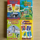 NEW - CARD GAME SETS - Donkey Happy Families Snap Pairs - Childrens Cards Games
