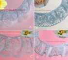 "Ruffled Lace Trim Blue 4-6 Yards 2""-4"" Floral Double Ruffle 037DV Your Choice"