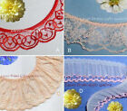"Ruffled Lace Trim Red 5-12 Yards Peach 1""-2-1/2"" Pink 037MV Added Trims ShipFree"