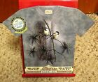 RED PINE & CHICKADEES new XL tee Mountain 2005 hand-dyed T shirt NWT