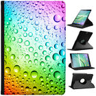 Coloured Water Droplets Folio Cover Leather Case For Samsung Galaxy Tablet