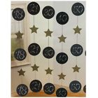 6 Black & Gold Birthday HANGING DOOR DANGLES Danglers 152cm Party Decoration