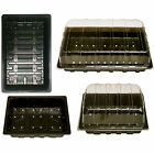 Half/Full Size Seed & Gravel Trays Plastic Heavy Duty With Clear Lids