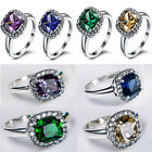 Hot New Fashion European Zircon Rings Sterling S925 Women Rings Size 6 to 9 US