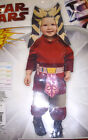 Ashoka Star Wars Clone Wars Costume Child 1-2 2-4 NIP