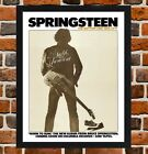 Framed Bruce Springsteen Bottom Line Poster A4 / A3 Size In Black / White Frame