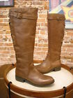 Yellowbox Katheron Brown Leather Corset Back Riding Boots NEW