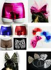 DANCEWEAR COSTUME ACCESSORIES -SHORTS -HEADPIECE -FREESTYLE PAGEANT ROLLER DISCO