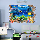 3D Ocean Dolphins Home Decor Removable Wall Sticker/Decal Kids Room Decoration