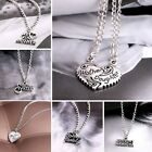 New Hot Family Love Forever Words Silver Pendant Necklace Fashion Jewelry Gift