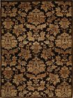Brown Gold Transitional Area Rug Floral Vines Leaves Persian Oriental Carpet