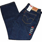 Levis 505 Jeans Mens Rinsed Indigo 0216 Straight Leg Zip Fly Levi's