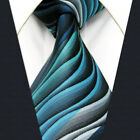 Y23 Extra Long Size Silk Ripple Navy Black Neckties Jacquard Woven New Men Ties