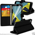 Leather Wallet Book Stand Phone Case Cover✔LCD Screen Protector for Vodafone