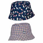 WEEKEND OFFENDER MEN'S NELSON BUCKET HAT BIRD WOODY CHECK COLOURS ONE SIZE