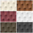 Leather Wallpaper - Heavyweight Vinyl Chesterfield - Faux Padded Effect Decor