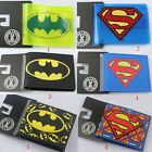 Super Hero Batman Superman LOGO PVC Short Purse Wallet