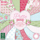 FIRST EDITION Paper 6x6 - PRETTY POSY - 200gsm - Scrapbooking Cardmaking