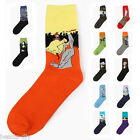 BD 1Pair New Fashion Vintage Art Abstract Painting Men Cotton Socks Free Size
