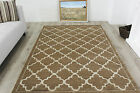New Quality Carved Trellis Modern Rugs Warm Soft Geometric Gold Living Room Rugs