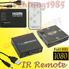 3 / 5 Port 1080P 3D HDMI Auto Switch Switcher Selector Splitter Hub + iR Remote