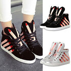 Women's Enticing Fingers Leather High Top Sneakers Heighten Sports Casual Shoes