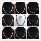 S-35 Mixed Gemstone Rondelle Necklace 17.5 inch 8x5mm