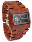 Wewood Rare Jupiter Chrono Natural Wood Limited Edition Wooden Watch Black Brown